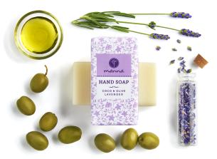 coco mýdlo na ruce s olivovým olejem a levandulí - doporučené manna