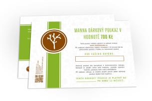 dárkový poukaz v hodnotě 700 kč - doporučené manna