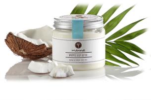 pěnový tělový krém s kakaovým máslem a kokosovým olejem - doporučené manna