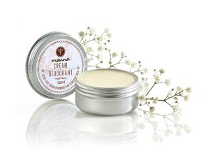 neparfémovaný krémový deodorant na citlivou pokožku - doporučené manna