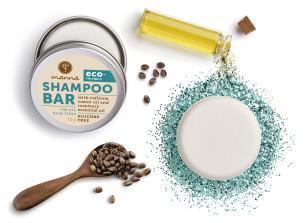 tuhý šampon s kofeinem, ricinovým a rozmarýnovým olejem - doporučené manna