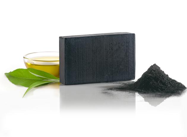 kafrové mýdlo na obličej s aktivním uhlím