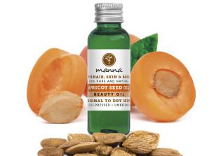 100% kalt gepresstes aprikosenkernöl - empfohlen manna