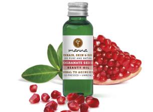 100% kalt gepresstes granatapfelkernöl - empfohlen manna