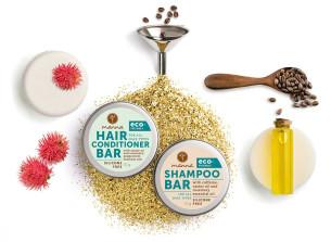 chemikalienfreies festes haarpflegepaket - empfohlen manna