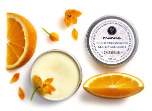 durch vulkanite gefilterte sheabutter ylang-ylang orangen - empfohlen manna