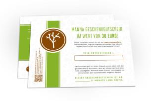 gutschein im wert von 30 euro - empfohlen manna