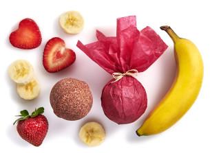 manna badekugel mit erdbeer- und bananenduft - empfohlen manna