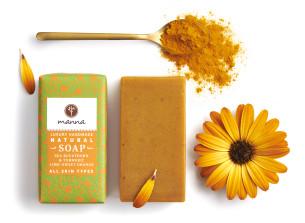 sanddorn-kurkuma seife mit ätherischem limetten- und süßorangenöl - empfohlen manna