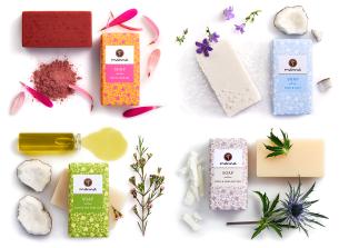 traditionelle handgefertigte seifen paket zum händewaschen - empfohlen manna