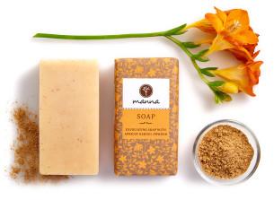 bőrradírozó szappan sárgabarackmag-őrleménnyel - ajánlott manna