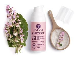 virágesszenciás zselé hialuronsavval és muskotályzsálya illóolajjal - ajánlott manna