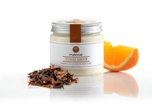 sheavajas testápoló habkrém narancs és szegfűszeg illóolajjal - ajánlott manna
