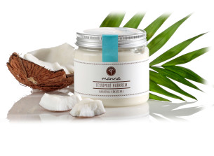 kremowa pianka do ciała z masłem kakaowym i olejem kokosowym - polecamy manna