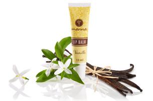 balsam de buze vanilie la tub - recomandat manna