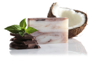 săpun coco ciocolată-mentă - recomandat manna