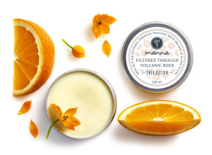 unt de shea filtrat prin vulcanit cu portocală și ylang-ylang - recomandat manna