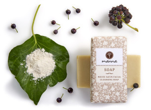 Čistiace mydlo na tvár - white satin - odporúčané manna