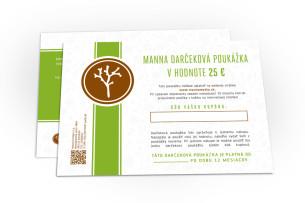 darčeková poukážka v hodnote 25 € - odporúčané manna