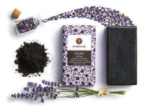 eben čistiace mydlo na tvár s levanduľovým esenciálnym olejom - odporúčané manna