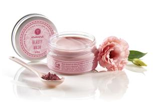 krémová maska na pleť s ružový ílom a maslom z aloe vera - odporúčané manna