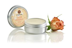 krémový deodorant geranium a rozmarín - odporúčané manna