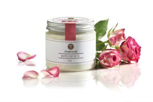 penový krém s bambuckým maslom a ružovým esenciálnym olejom - odporúčané manna