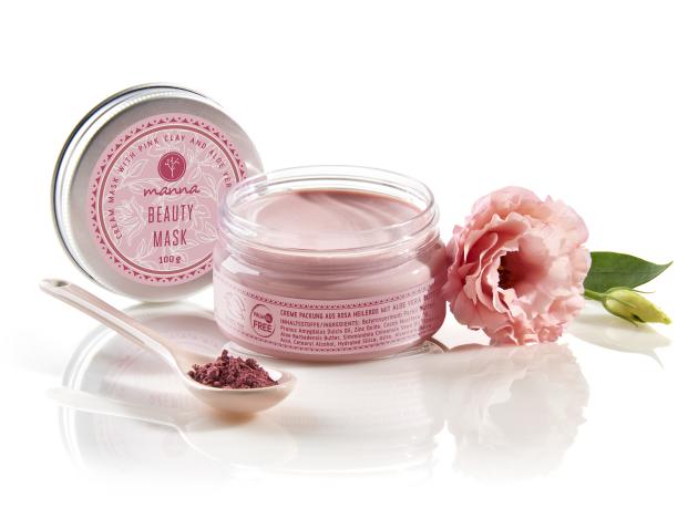 krémová maska na pleť s ružový ílom a maslom z aloe vera