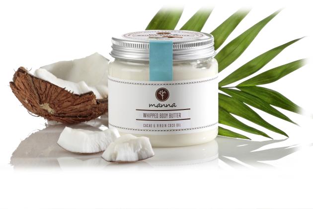 penový krém s kakaovým a panenským kokosovým maslom