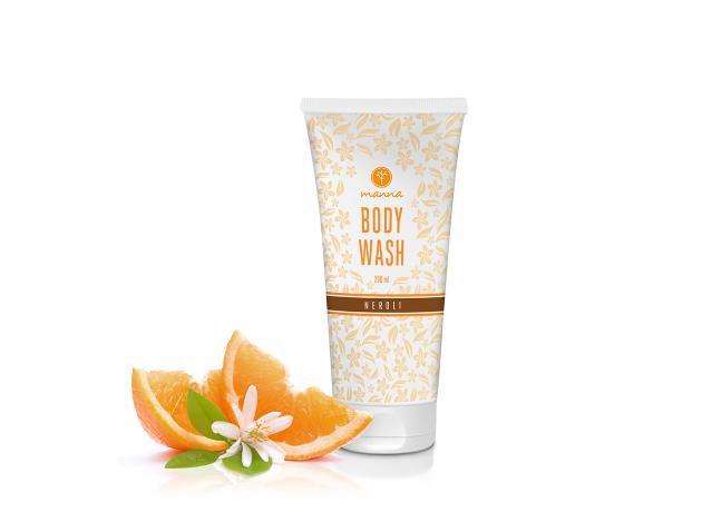 manna sprchovací gél s vôňou pomarančových kvetov