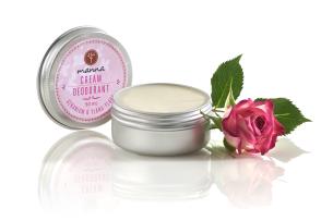 geranium ylang ylang cream deodorant - recommended manna