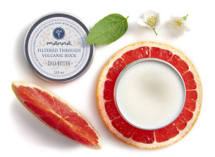 grapefruit-neroli scented shea butter filtered through volcanic - recommended manna