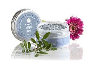 mattifying nourishing mask with blue clay for oily skin - recommended manna