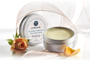 shea butter filtered through volcanic rock-orange, ylang ylang - recommended manna