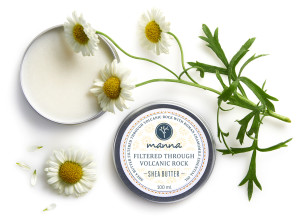 shea butter filtered through volcanic rock with roman chamomile - recommended manna