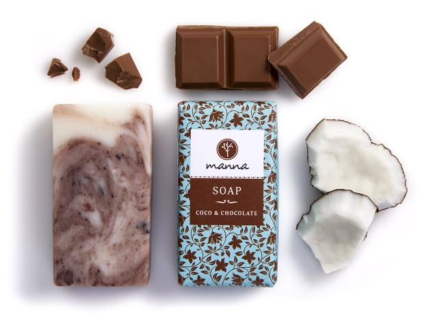 manna - coco & chocolate soap