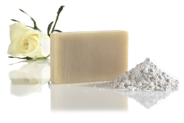 white satin facial cleaning soap - manna